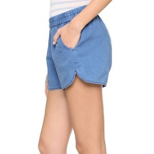 Madewell Pull On shorts denim blue